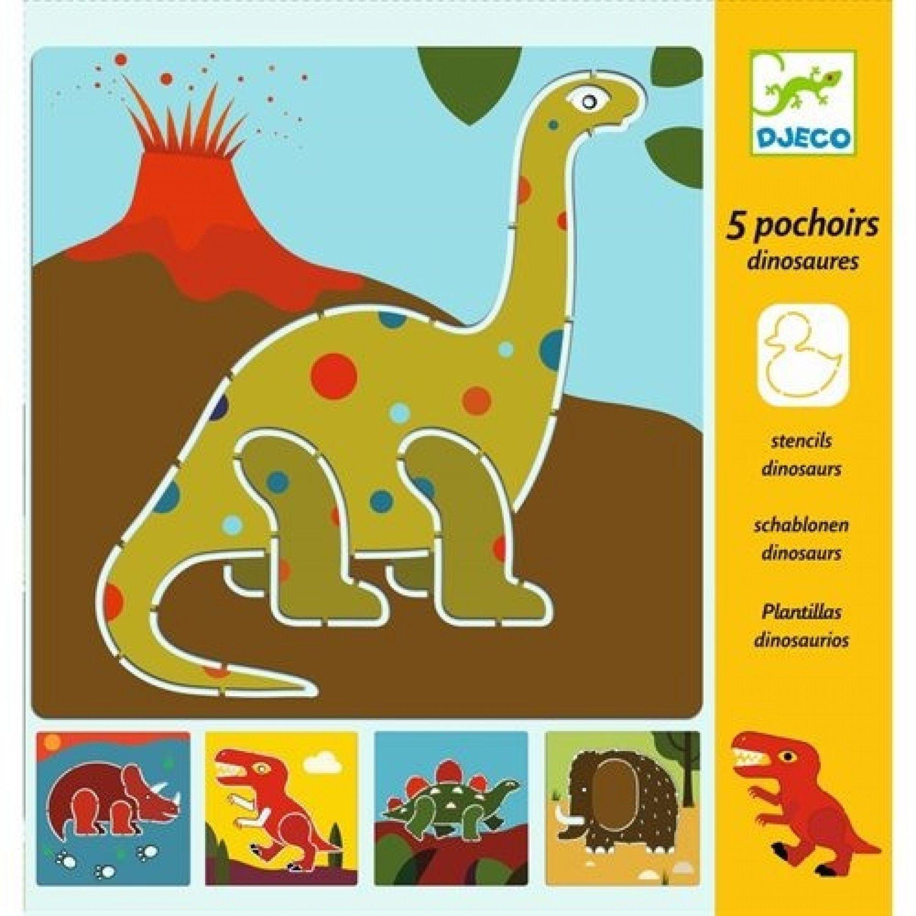 Djeco Djeco tekensjablonen Dino