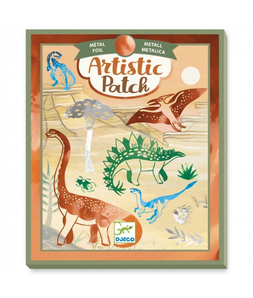 Djeco Djeco Artistic Patch Dino Transfer Knutseldoos