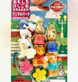Iwako Japanse Puzzel Gummetjes Animal Park