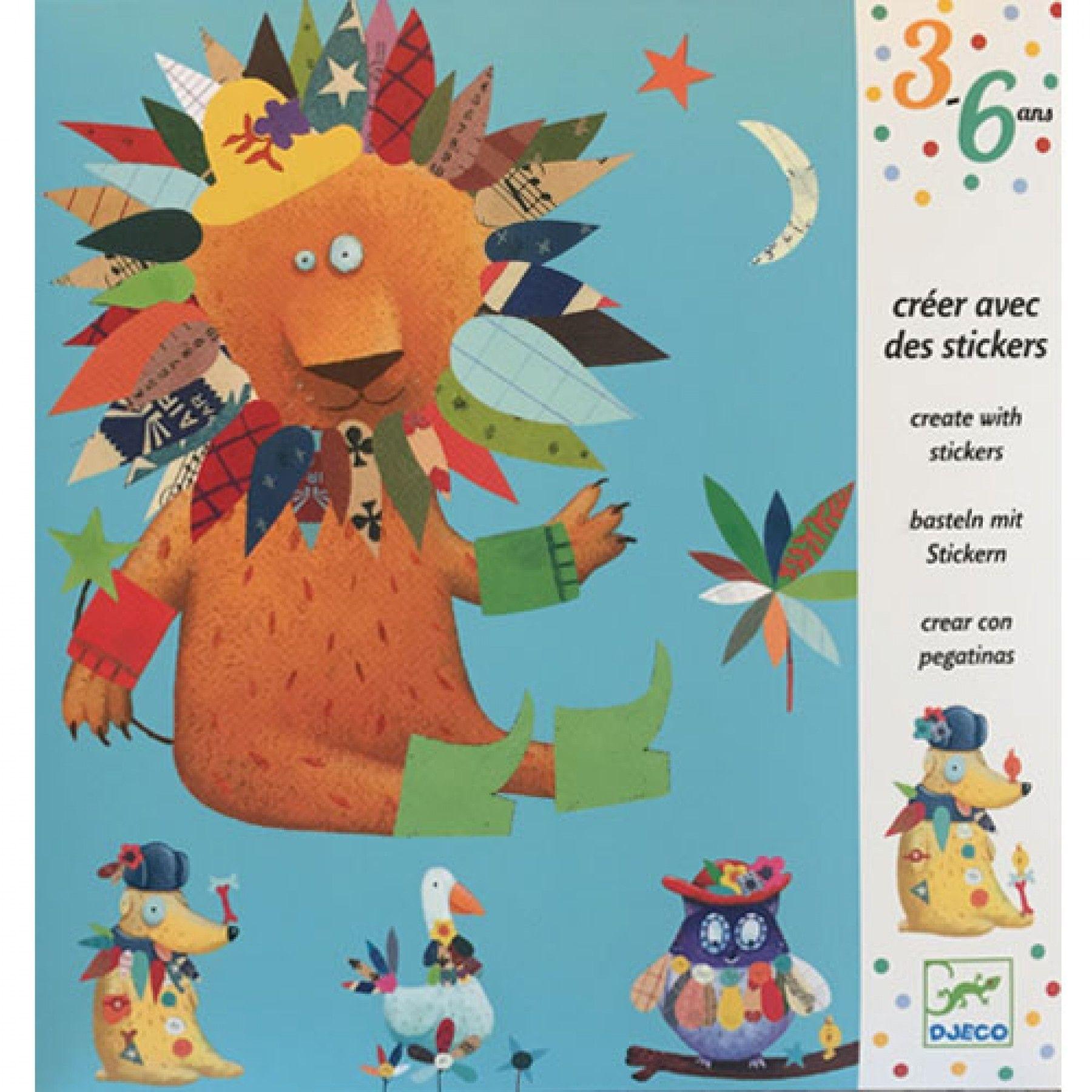 Djeco Djeco Beplak de dieren met stickers