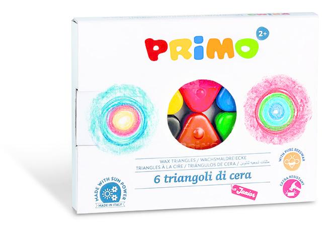 Primo PRIMO - 6 Driehoek waskrijtjes