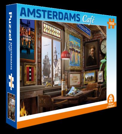 Amsterdam café 1000 st puzzel