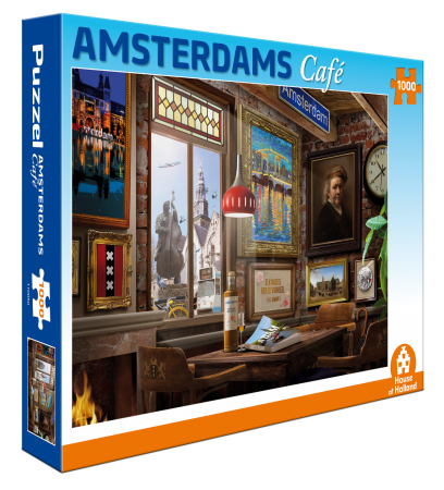 Tuckers Fun Factory Amsterdam cafe 1000 st puzzel