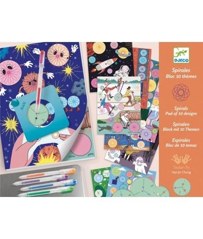 Djeco Spiralen, blok met 10 thema's
