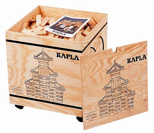 Kapla speelgoed Kapla 1000 bouwplankjes in stoere kist