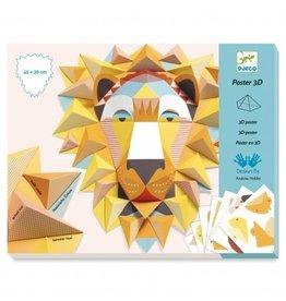 Djeco Leeuw 3D van papier