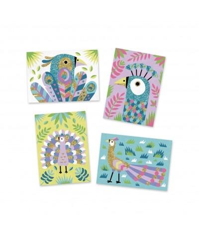 Djeco Zand- en Glitterschilderen Vogels
