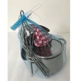 Tinkerbell 11 delig rvs Kooksetje in een netje