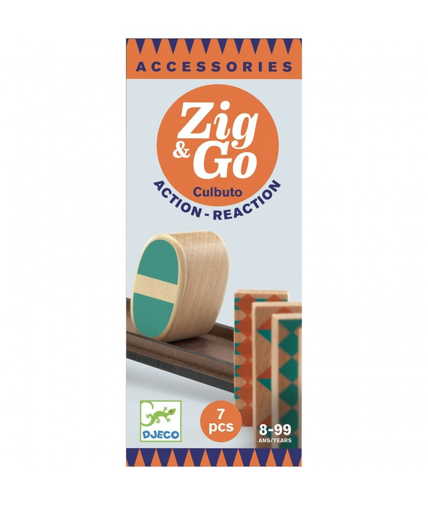 Djeco Zig & Go actie/reactie baan uitbreiding Culbuto