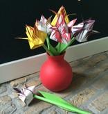 Piet Design Vouw een bos tulpen