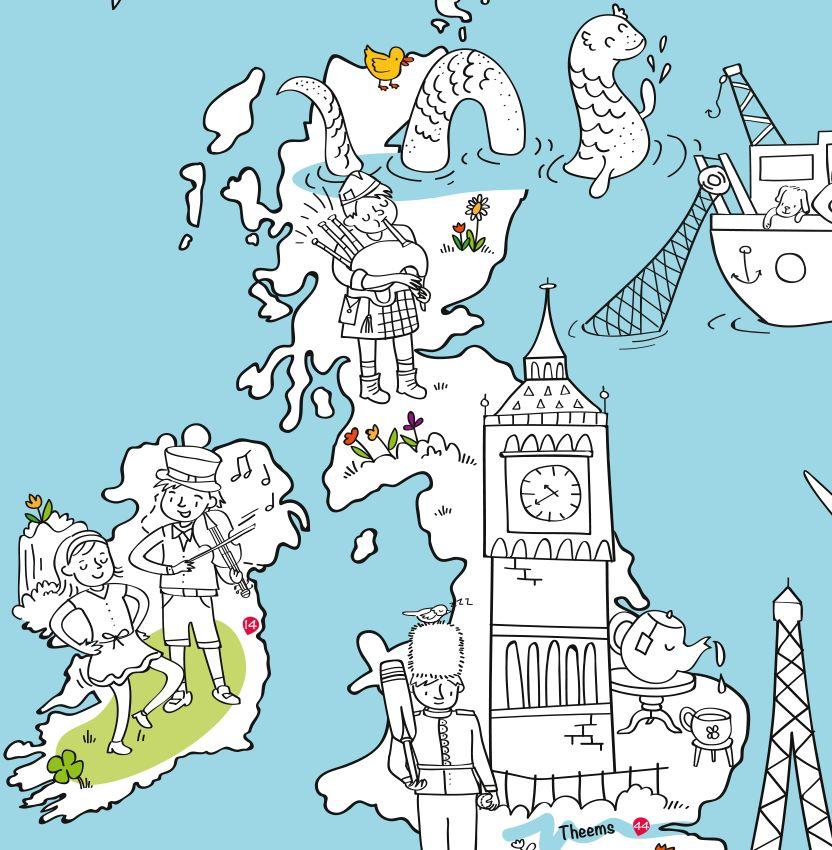 Kleurplaten Landen Europa.Very Mappy Speel Kleurplaat Europa Tinkerbell