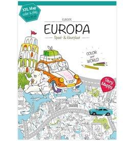 Very Mappy Speel- & Kleurplaat Europa