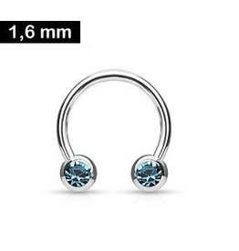 1,6 x 12 mm Nippelring Ring Türkis