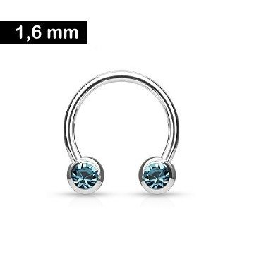 Piercing Ring 1,6 x12 mm türkis