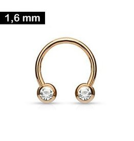 1,6 x 12 mm Brustpiercingring Rose