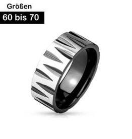Edelstahl Ring Schwarz