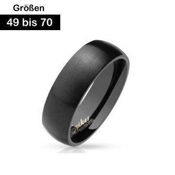 Edelstahl Partnerringe schwarz 49-70 mm