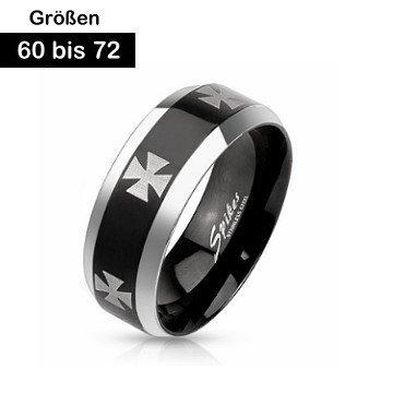 Edelstahl Ring 60-72 mm