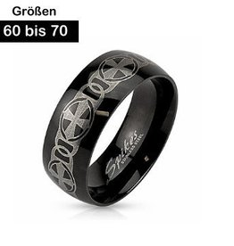 Schwarzer Edelstahl Ring
