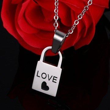 Partnerkette Love aus Edelstahl