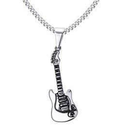 Edelstahlkette mit Gitarre