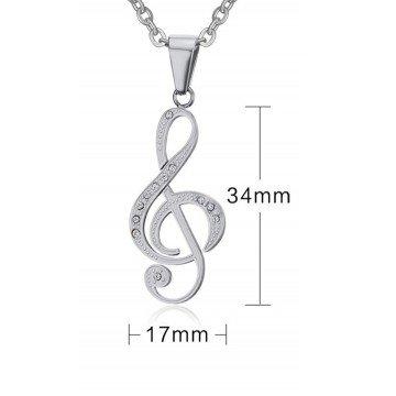 Halskette aus Edelstahl mit Note