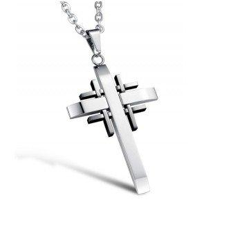 Kreuzanhänger aus Edelstahl