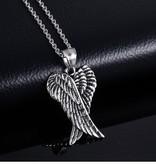 Edelstahlsanhänger Flügel