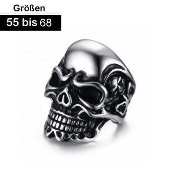 Totenkopfring Bikerring Gr. 55-70 mm