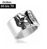 Edelstahlring Totenkopf Ring
