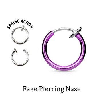 Pinkes Fake Piercing für Nase