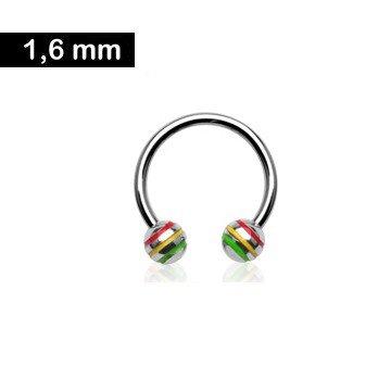 1,6 mm Hufeisenring - Regenbogen