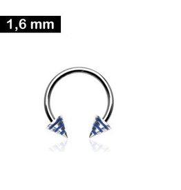 Hufeisenring 1,6 mm blau