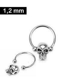 Piercing Ring Totenkopf