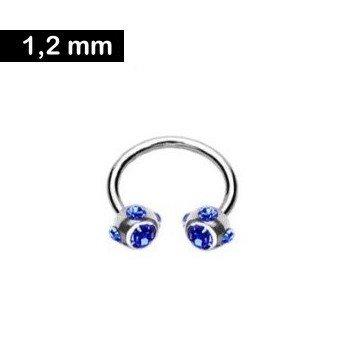 Hufeisenring 1,2 mm - blau