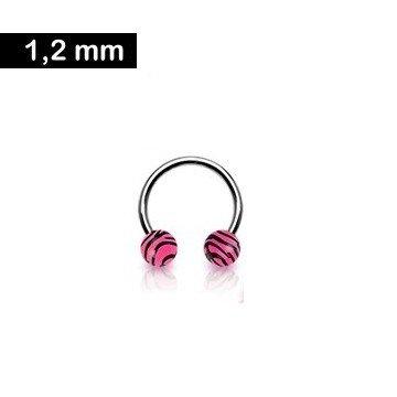 Hufeisenring Zebralook - Pink