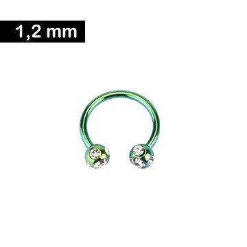 1,2 mm Hufeisenring grün