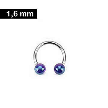 1,6 mm Piercingring - blau