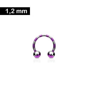 Hufeisen Ring 1,2 x 10 mm gestreift