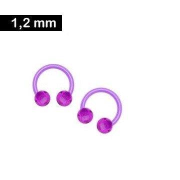 Piercingring Kunststoff violett