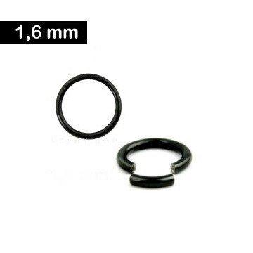 1,6 mm Segmentring - schwarz
