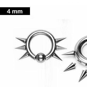 BCR-Ring 4,0 x 14 mm mit Spitzen