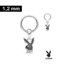 1,2 mm Piercingring - Playboy