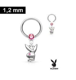 1,2 x 10 mm Piercingring - Playboy