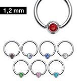 1,2 mm Piercingring - 8 Farben