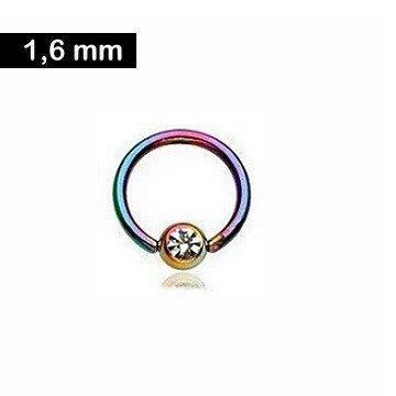 1,6 mm BCR Ring - mit Glitzerstein