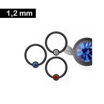 1,2 mm Septum Ring schwarz kaufen