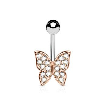 Bauchnabelpiercing Schmetterling  rosegold