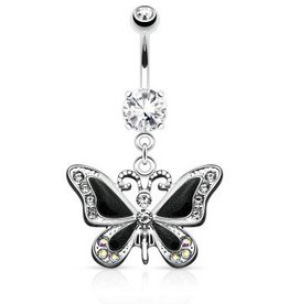 Schmetterling Bauchnabelpiercing