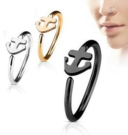 0,8 mm Piercing Ring Nase Anker